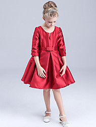 Girl's Red Dress Rayon Summer / Spring / Fall