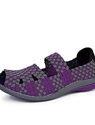 Черный / Розовый / Фиолетовый-Женская обувь-На каждый день-PU-На плоской подошве-С открытым носком-Лоферы