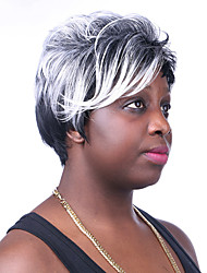 europa e os estados unidos cabelo prat preto misturado peruca velha de 3 polegadas