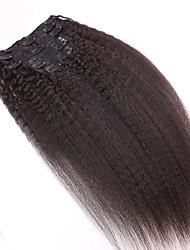 8a 100% Remy natürliche Klipps in der Menschenhaarverlängerungen des brasilianischen reinen Haarspange in Verlängerung verworrene gerade