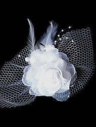 Mulheres Tule Tecido Capacete-Casamento Ocasião Especial Flores Clip para o Cabelo 1 Peça