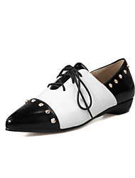 Women's Shoes Flat Heel Pointed Toe Rivets Lace-up Flats Shoes More Colors Available