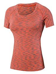 Damen Laufshirt Rasche Trocknung Schweißableitend T-shirt Oberteile für Übung & Fitness Laufen Schwarz Purpur Rot Grün Blau M L XL