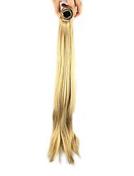 Длина золотой парик 52см синтетический прямой высокой температуры проволоки шрапнель прямые волосы конский хвост цвет 1011