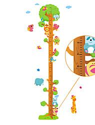 60-180cm Animals Tree Height Stickers Removable Children's Bedroom Kindergarten Wall Stickers