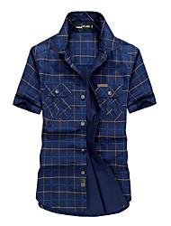 Camicia Uomo Casual / Da ufficio / Formale A quadri Cotone Manica corta