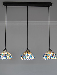 8 inch 3-lights Retro Tiffany Pendant Lights Shell Shade Living Room Dining Room light Fixture