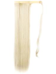 белое золото 60см синтетический высокая температура проволоки парик прямые волосы конский хвост цвет 613