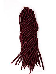 Красный / #1B / 99J / #27 / #30 / Коричневый Others дредлоки Наращивание волос 18 Kanekalon 24 нитка 120 грамм косы волос