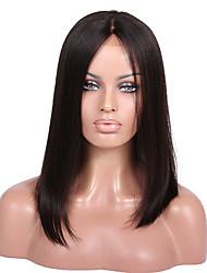 cabelo humano 8a Remy 8-18inches yaki estilo campell completo ou rendas frente reta perucas parte do meio bob