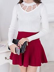 Damen Pullover - Street Schick Baumwolle Mittel Langarm
