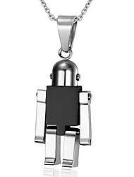Necklace Pendant Necklaces / Pendants Jewelry Daily / Casual Fashion Stainless Steel Black / Silver / Blue 1pc Gift