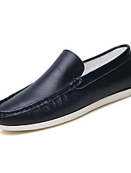 Men's Shoes Wedding / Office & Career / Party & Evening / Dress / Casual Nappa Leather Loafers Blue / Orange