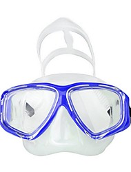 Diving Masks Swim Mask Goggle Waterproof Diving / Snorkeling Fibre Glass silicone Yellow Blue Black