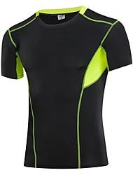 Men's Running T-shirt Quick Dry Sweat-wicking Sports Wear Running White Gray Blue