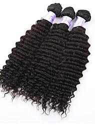 "3pcs / lot 8 ""-34"" brasilianische tiefe Welle virin Haar # 1b 300g tiefes Wellenhaar brasilianischer Haareinschlagfaden spinnt"