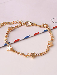 Women's New European Style Fashion Fresh Simple Star Charm Bracelets