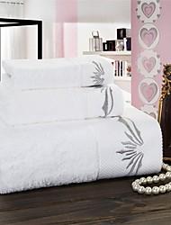 Ensemble de serviette de bain Blanc,Solide Haute qualité 100% Coton Serviette
