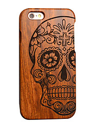 Pear Wooden Skull Carving Protective Back Cover Hard iPhone Case for iPhone 6S Plus/iPhone 6 Plus/iPhone 6s/iPhone 6