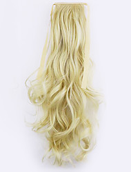 Red Length 50CM Factory Direct Sale Bind Type Curl Horsetail Hair Ponytail(Color 613)