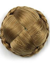 viziosa oro riccio Europa sposa capelli umani senza cappuccio parrucche chignon g660232-L 1011
