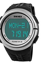 SKMEI Pánské Dámské Unisex Sportovní hodinky Digitální hodinkyLCD Kalendář Chronograf Voděodolné poplach Monitor pulsu Svítící Krokoměr