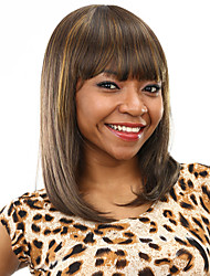 """Heat Resistant Cheap Fake Hair Wig 18"""" Long Bob Synthetic Wigs for Women"""