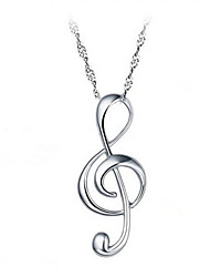 The Rhythm of Love Note 925 Sterling Silver Pendant