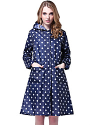 Polka Dot Fashion Hooded Cape coat Style Raincoat Portable