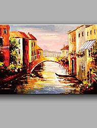 Hand-painted Landscape Oil Painting with Stretched Frame