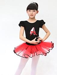 Ballet Dresses Children's Performance Cotton Bow(s) 1 Piece Black / Blue / Pink / Purple Ballet Backless Sleeveless Natural Dress
