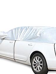 Sommer Lederimitat Aluminium Sonnenschutz Schatten dicker Wärmedämmung Auto halb Abdeckung Nähen