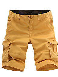 Top Selling 2016 Summer Calf-Length Cargo Mens Shorts Multi-Pocket Solid Men Beach Shorts