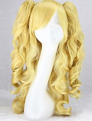 Fashion Color Cartoon Wig COS Double Tiger Clip Horsetail Yellow Wig