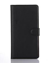 capa protetora em relevo couro pu titular do telefone de couro cartão da carteira para o Sony Xperia c5 de ultra