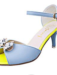 Women's Shoes PU Stiletto Heel Heels / Open Toe Sandals Outdoor / Dress / Casual Blue / Purple / White