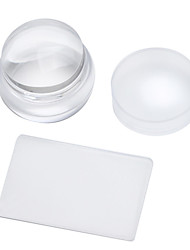 Manicure Seal kit 3.8cm Imported Transparent Silicone Seals With Cover + Super Short Blade