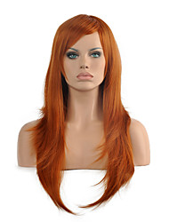 High Quality Long Curly Brown Color Woman's Party Synthetic Wigs