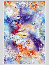 Pintados à mão Floral/Botânico Pinturas a óleo,Modern / Clássico / Tradicional / Realismo / Mediterrêneo / Pastoril / Estilo Europeu1