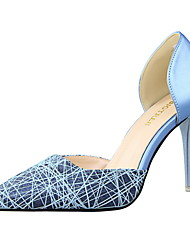 Women's Shoes Stiletto Heel Heels / Pointed Toe / Closed Toe Heels Dress Black / Blue / Pink / White / Silver / Gold