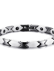 Magnetic Therapy Bracelet Unisex Jewelry Health Care White & Black  Fashion  Jewelry Christmas Gifts