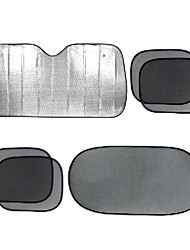 6 pcs folha de alumínio carro pára-guia lateral malha preta