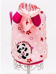 Lovely Panda Pattern Pet Fleece Coat