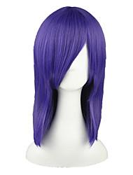 Cosplay Wigs Pandora Hearts Ichirin Kumoi Purple Medium Anime Cosplay Wigs 45 CM Heat Resistant Fiber Male / Female