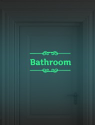 Luminous Wall Stickers Bathroom Decoration Toilet Door Vinyl Wall Art Decals Glow In The Dark Quote Sticker
