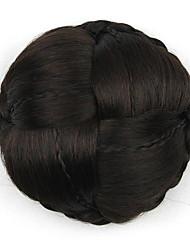 verworrene lockige schwarze große weben menschliches Haar capless Perücken Chignons 2/33