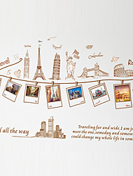 Vintage Travel Tourist Attractions Landscape Photo Stickers DIY Fashion Removable Wall Stickers