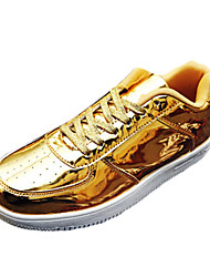 Men's Summer Comfort PU Casual Flat Heel Black Silver Gold