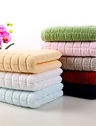 "4pc Pack Luxury Solid Full Cotton Wash Towel Super Soft Easy Care 13.4"" by 30"""