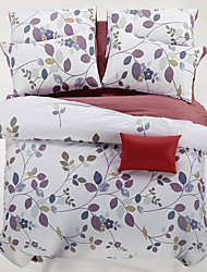 4PC Duvet Cover Set Cotton Floral Pattern